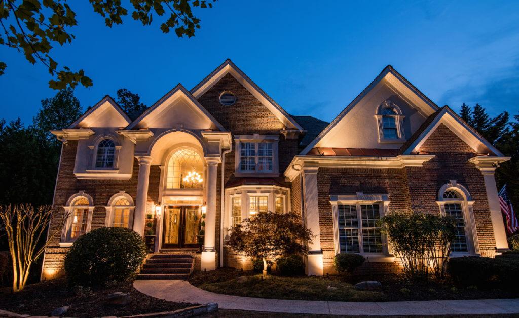 LED Landscape Lighting front of house