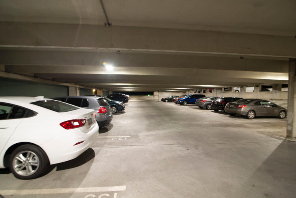 LED lighting for parking deck in Atlanta