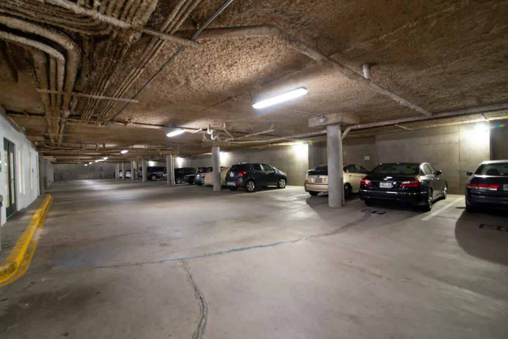 LED lighting for parking garage in Atlanta