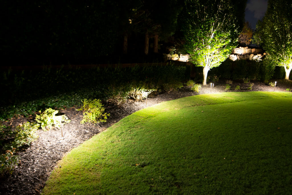 HOA accent landscape lighting