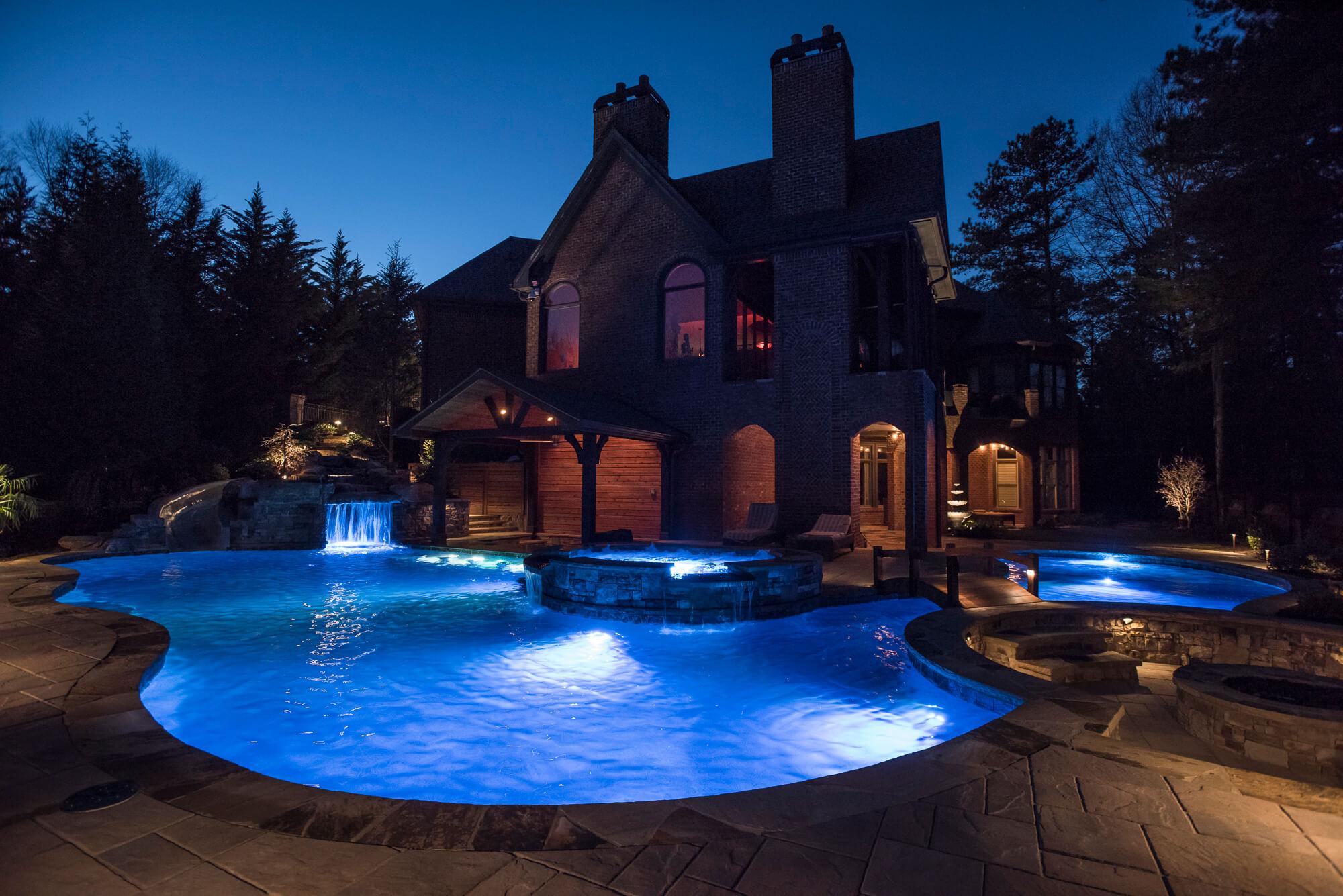 LED pool lighting and deck lighting