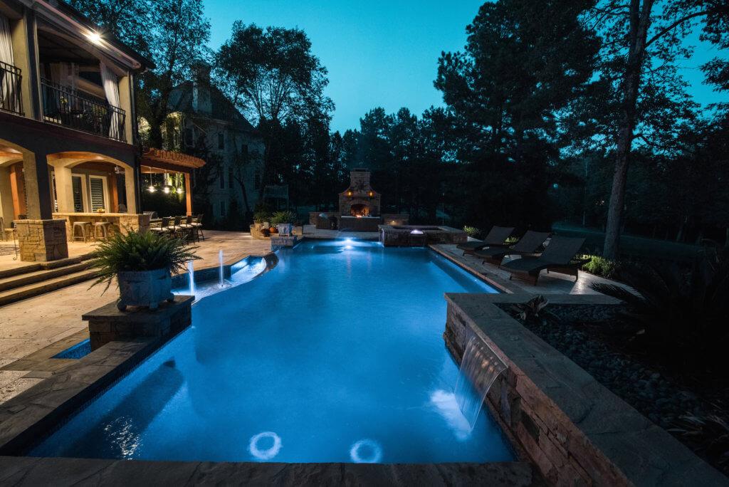 LED pool lighting and deck lighting Cumming GA