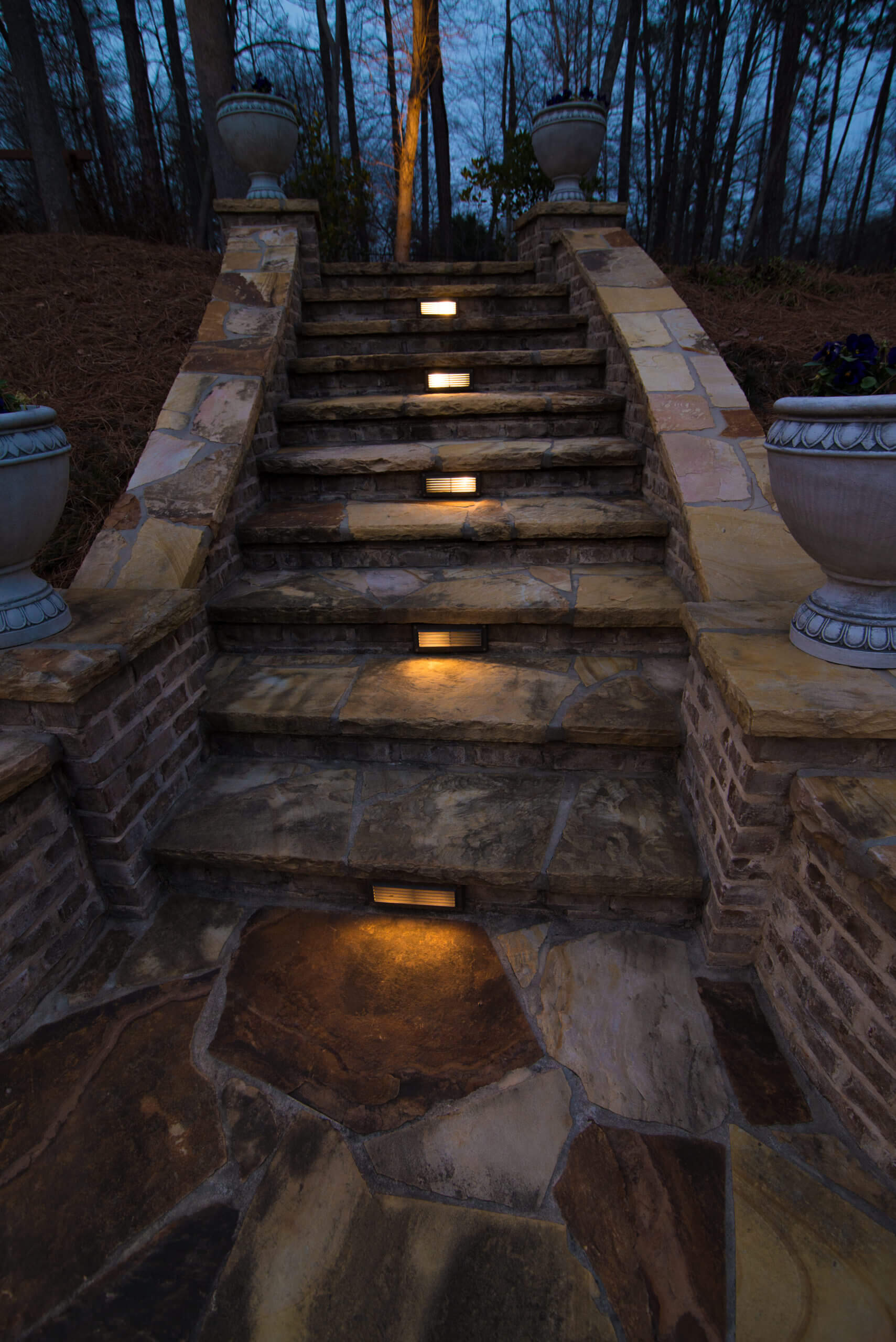 LED outdoor stair lighting