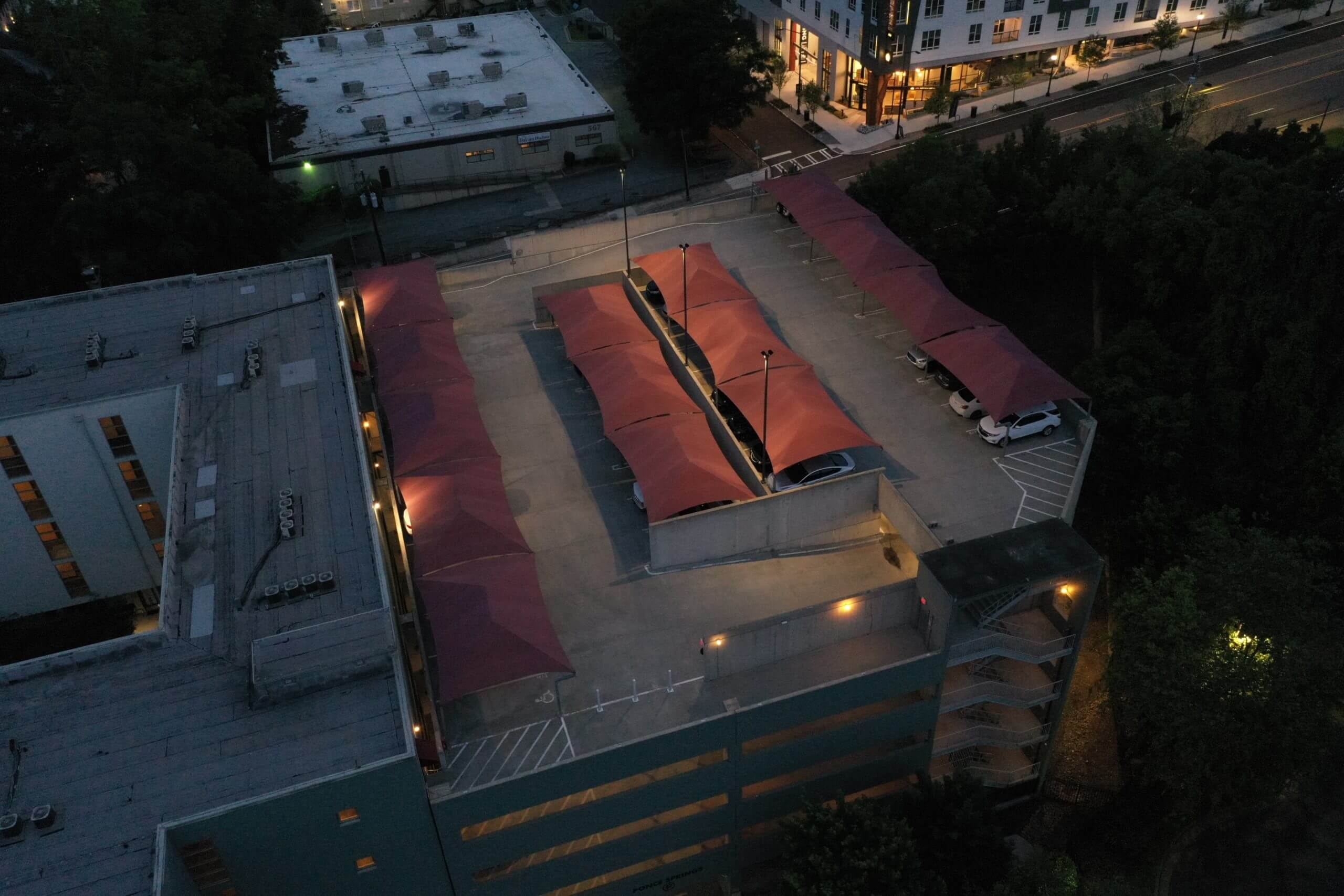 LED Conversions for parking deck lighting