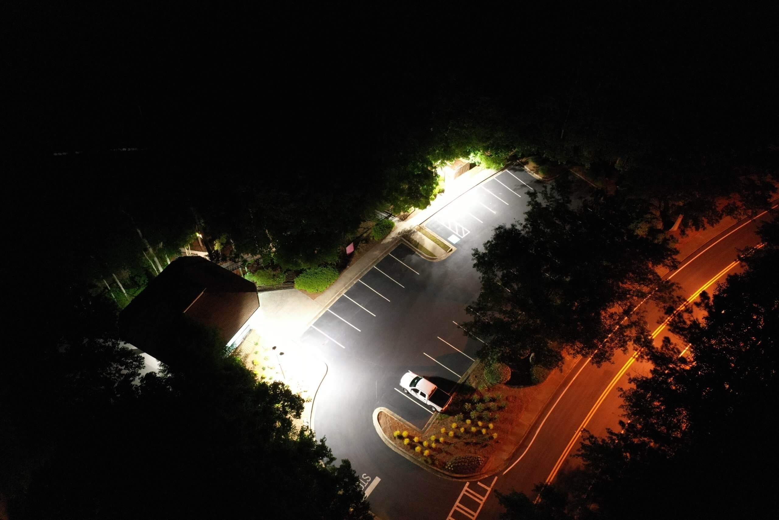 HOA community area LED lighting conversion Johns Creek