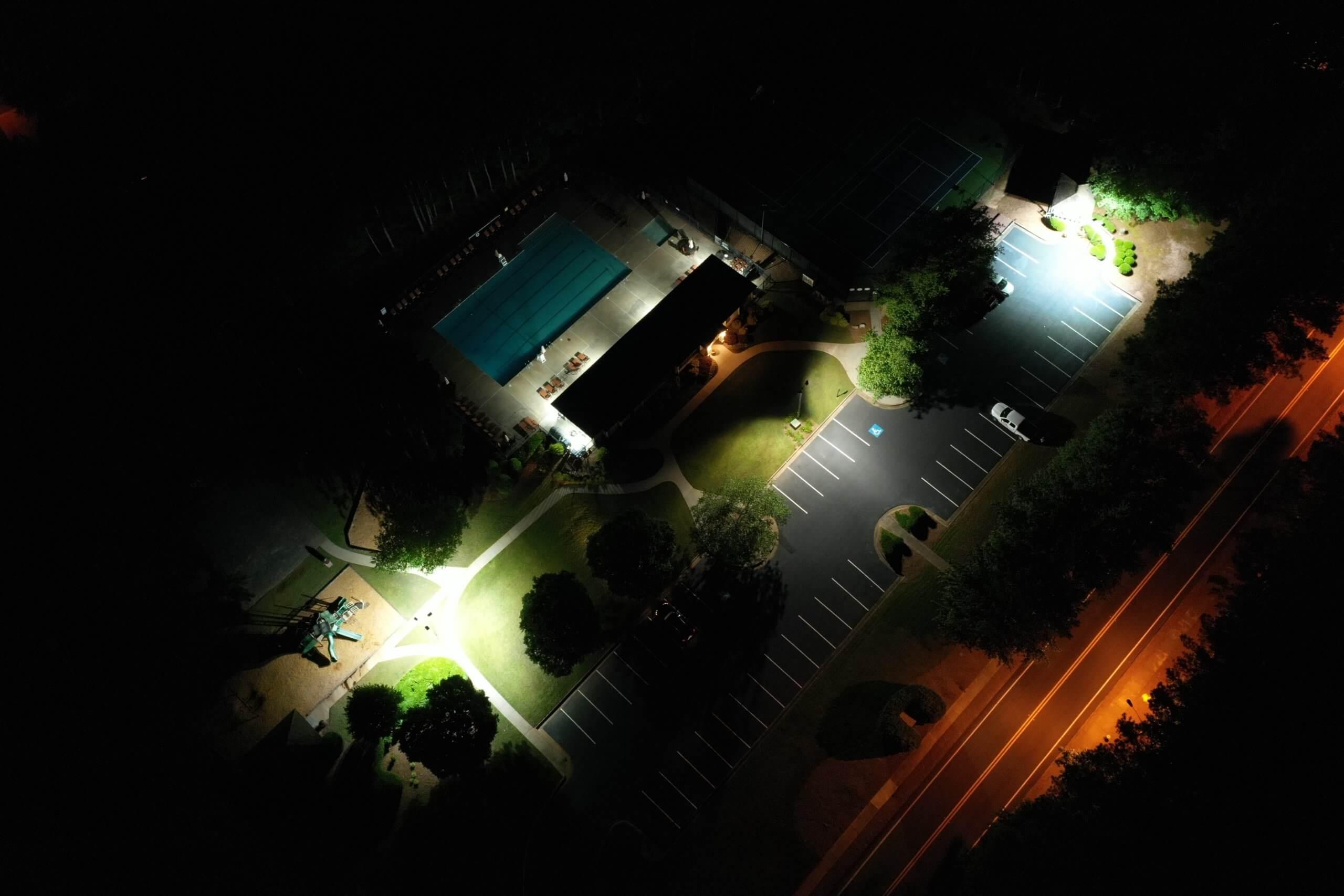 HOA community area LED lighting conversion Cumming